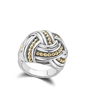 Lagos 18K Gold & Sterling Silver Torsade Large Round Ring