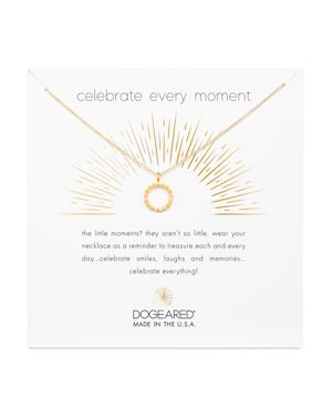 Dogeared Celebrate Every Moment Necklace, 16