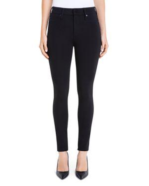 Farrah Pull-On High Waist Ankle Leggings In Silky Soft Ponte Knit In Black, Black from 6PM.COM