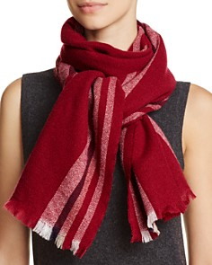 C by Bloomingdale's - Lightweight Vertical Stripe Cashmere Scarf - 100% Exclusive