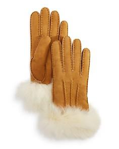 UGG® Sheepskin Fur Cuff Gloves - Bloomingdale's_0