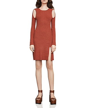 Bcbgmaxazria Braiden Marled Cold-Shoulder Sweater Dress at Bloomingdale's