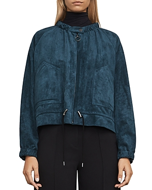 Bcbgmaxazria Levi Faux-Suede Bomber Jacket at Bloomingdale's