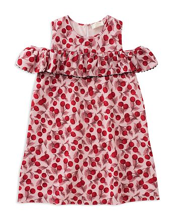 kate spade new york - Girls' Cherry-Print Ruffle-Sleeve Dress - Big Kid