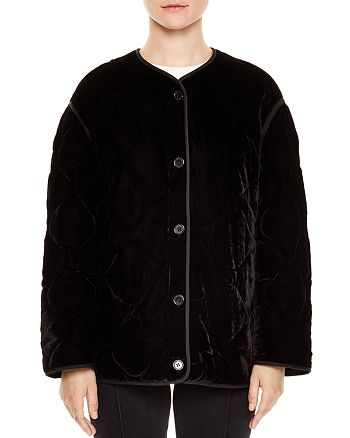 Sandro - Jacky Quilted Velvet Jacket