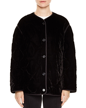 Sandro Jacky Quilted Velvet Jacket