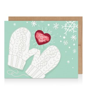 Inklings Paperie Scratch-Off Mitten Cards, Box of 6