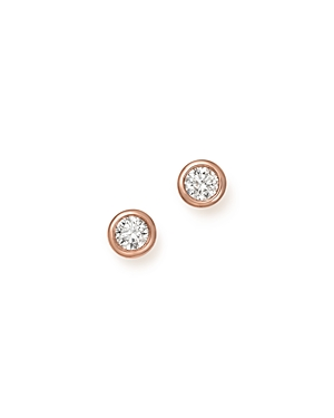 Bloomingdale's Diamond Bezel Set Stud Earrings in 14K Rose Gold, .50 ct. t.w. - 100% Exclusive