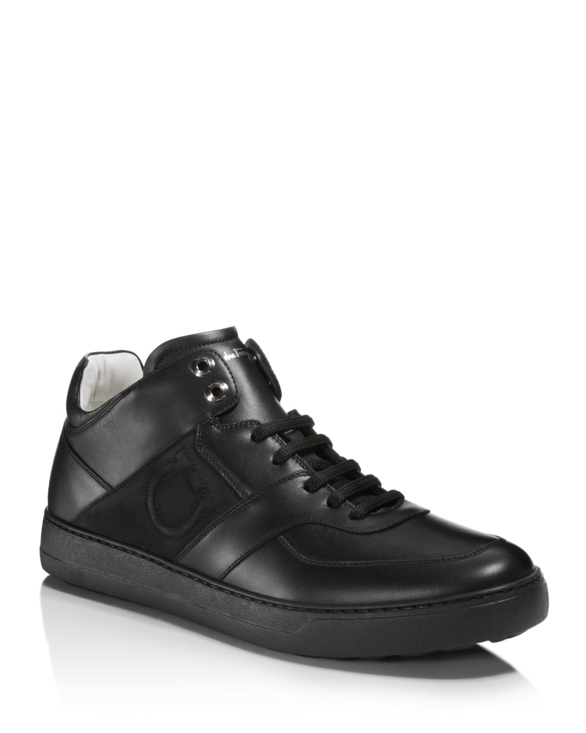 Salvatore FerragamoMen's Cliff Leather Mid Top Sneakers - 100% Exclusive
