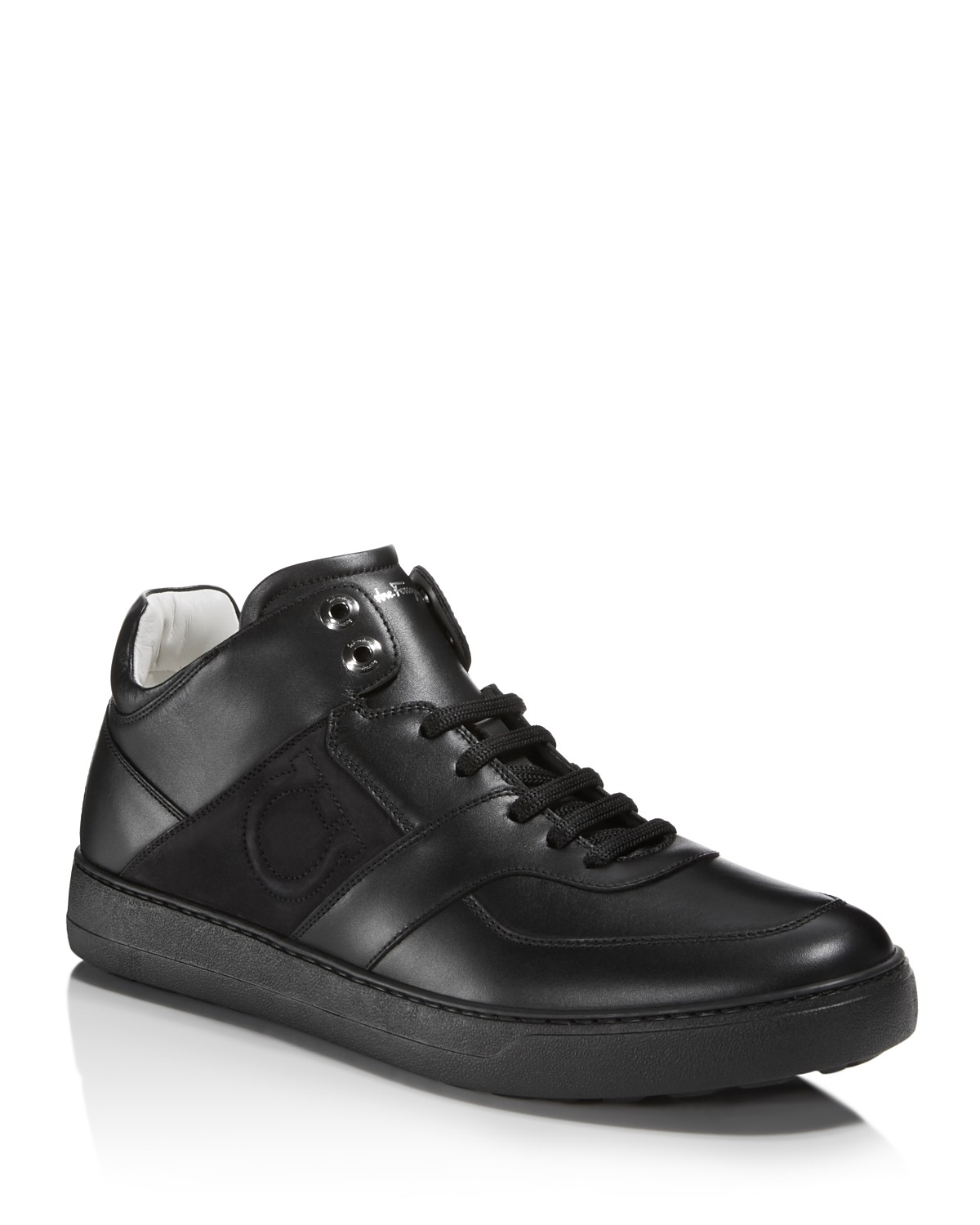 Salvatore FerragamoMen's Cliff Leather Mid Top Sneakers - 100% Exclusive wQxFo