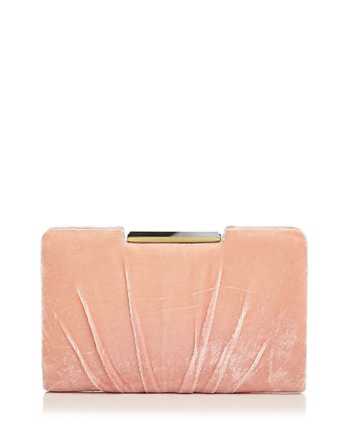 Sondra Roberts - Frame Pleated Velvet Clutch