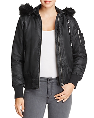 Calvin Klein Olena Hooded Faux Fur-Trimmed Jacket