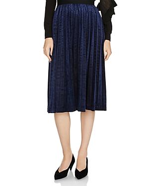 Maje Jagui Pleated Midi Skirt