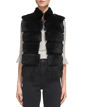 Whistles Chevron Real Lamb Shearling Gilet