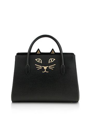 Charlotte Olympia - Feline Small Leather Satchel
