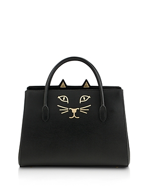 Charlotte Olympia Feline Small Leather Tote
