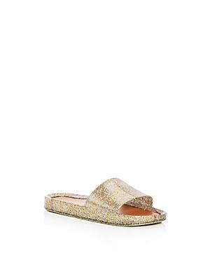 Mini Melissa Girls' Mel Glitter Pool Slide Sandals - Big Kid