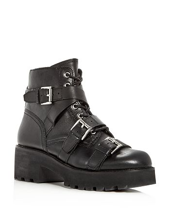 Ash - Women's Razor Leather Triple Strap Booties