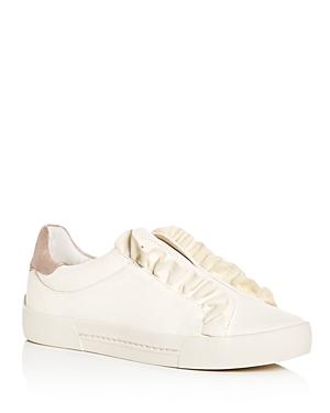 Joie Women's Daw Ruffle Leather Slip-On Sneakers