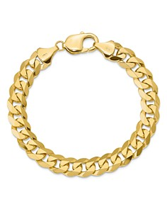 Bloomingdale's 14K Yellow Gold 9.5mm Beveled Curb Chain Bracelet - 100% Exclusive_0