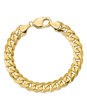 Bloomingdale's 14K YELLOW GOLD 9.5MM BEVELED CURB CHAIN BRACELET - 100% EXCLUSIVE
