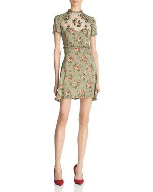 The Kooples Garden Roses A-Line Mini Dress