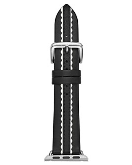 kate spade new york - Black Scallop Leather Band for Apple Watch®, 38mm & 40mm