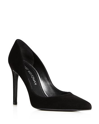 Stuart Weitzman - Women's Curvia Suede High-Heel Pumps