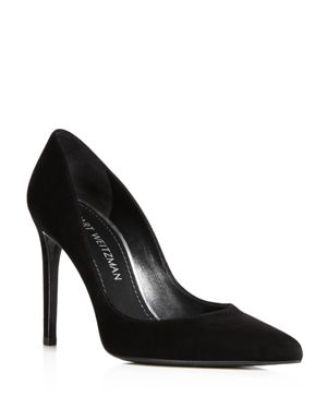 Stuart Weitzman Women's Curvia Suede High Heel Pumps