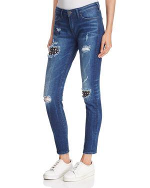 True Religion Halle Super Skinny Jeans in Mended Metal Wash 2668820