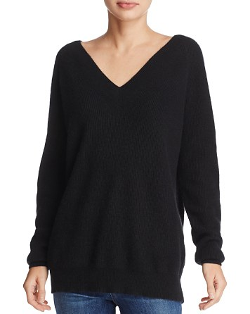 $Minnie Rose Double V Cashmere Sweater - Bloomingdale's