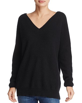 Minnie Rose - Double V Cashmere Sweater