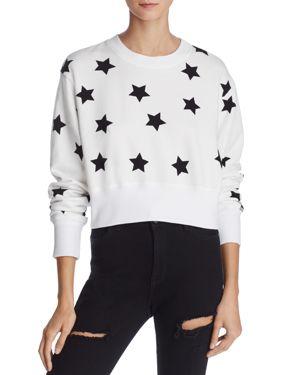 Splendid WeWoreWhat x Bloomingdale's Star Print Cropped Sweatshirt - 100% Exclusive