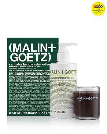 MALIN and GOETZ - Cannabis Hand Wash & Votive Gift Set - GQ60, 100% Exclusive