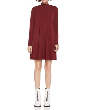 BCBGeneration Mock-Neck Pleated Dress