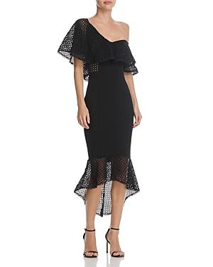 252ff24bcfaae Elliatt Harlow One-Shoulder Flounce Midi Dress