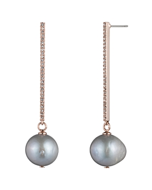 Lauren Ralph Lauren Pave Bar Drop Earrings