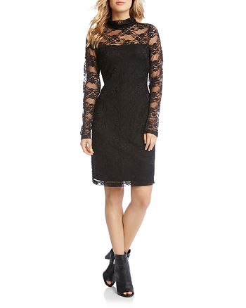 Karen Kane - Lace Illusion Sheath Dress