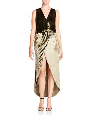 Crossover Velvet Gown by Haute Hippie