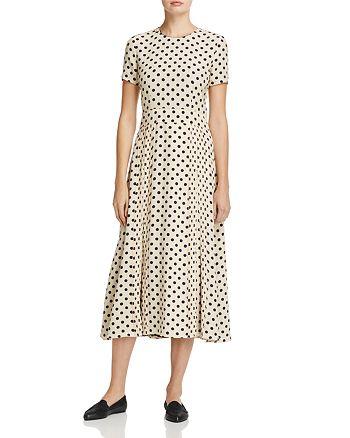 Burberry - Corin Silk Polka-Dot Dress