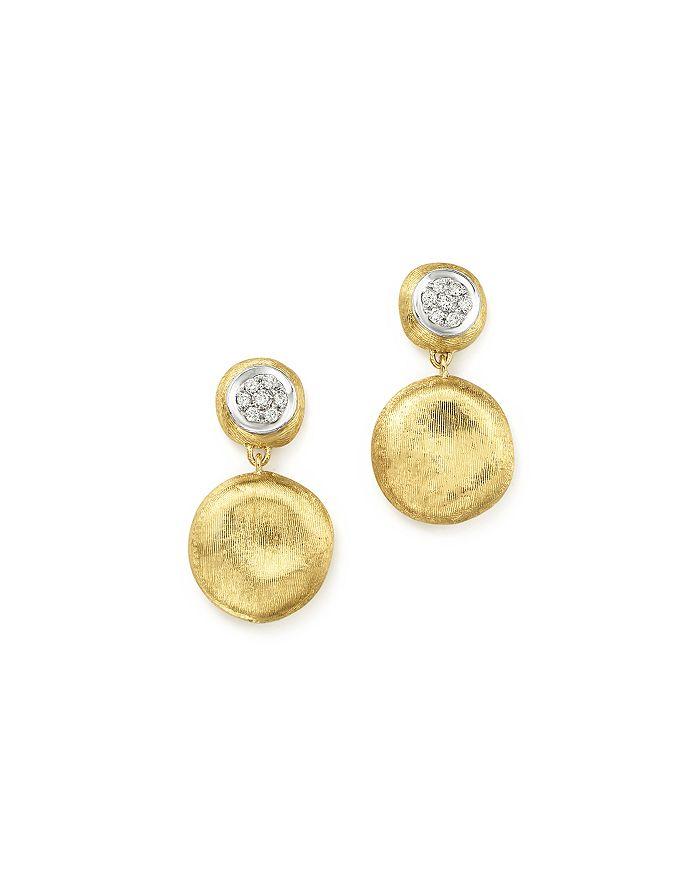 Marco Bicego - 18K White & Yellow Gold Diamond Pavé Jaipur Link Drop Earrings