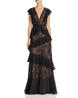 Bcbgmaxazria Ruffle Lace Gown at Bloomingdale's