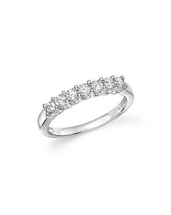 Bloomingdale's - Diamond Seven Stone Band in 18K White Gold, .40 ct. t.w. - 100% Exclusive