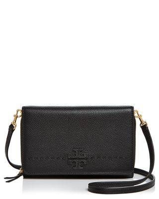 c4a0fa0c51d32c Tory Burch McGraw Flat Leather Wallet Crossbody