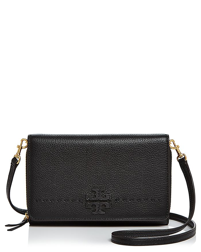 2f458e40530 Tory Burch - McGraw Flat Leather Wallet Crossbody