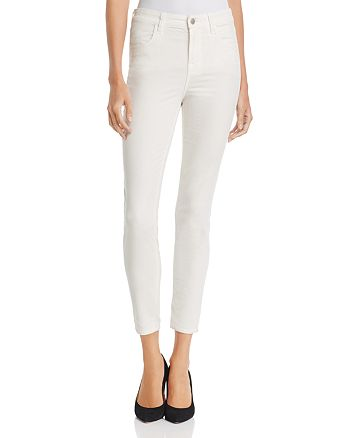 J Brand - Alana High Rise Crop Velvet Skinny Jeans in Corset- 100% Exclusive
