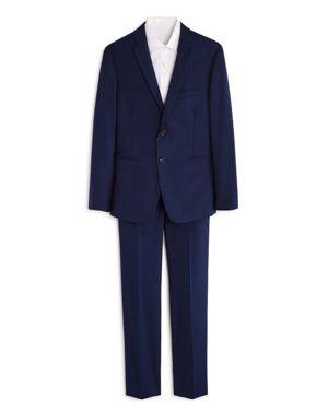 Michael Kors Boys' Twill Suit Jacket & Pants Set - Big Kid
