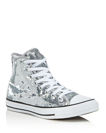 26d14b42a441 Converse Women's Chuck taylor All Star Sequin High Top Sneakers ...