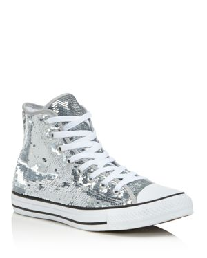 Converse Women's Chuck taylor All Star Sequin High Top Sneakers 2731839