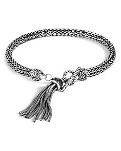 John Hardy Sterling Silver Classic Chain Tassel Bracelet with Black Sapphire & Black Spinel - Bloomingdale's_0